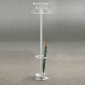"T Style Coat Tree and Umbrella Stand - 69""H, V20028"
