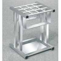 "Satin Aluminum 12 Slot Umbrella Stand- 18""H, V20035"