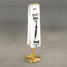 Satin Brass Standing Wet Umbrella Bag Holder, V20049