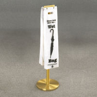 Satin Brass Standing Wet Umbrella Bag Holder, V20049