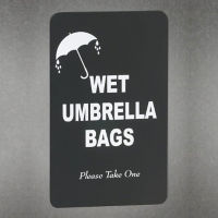 Wet Umbrella Bags Sign, V20051