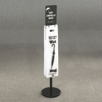 Standing Wet Umbrella Bag Holder With Sign Holder, V20073