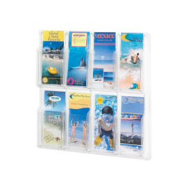 Literature Rack with Acrylic Front 8 Brochure Pockets, D33035