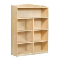 "Five Shelf Bookshelf with Optional Dividers - 48""H, B34574"