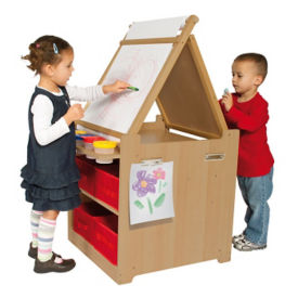 "Storage Easel with Bins - 26""W, B34576"