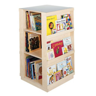 "Four Sided Mobile Bookcase - 44""H, B34577"
