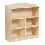 "Four Shelf Bookshelf with Optional Dividers - 36""H, B34578"