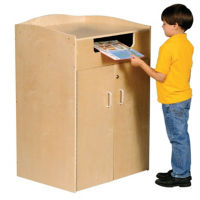 "Book Drop with Interior Cart - 24""W, B34584"