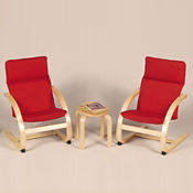 2 Kiddie Chairs with Small End Table, P30132
