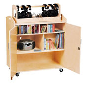 Mobile Media Storage Cart, P30316
