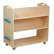 "Mobile School Library Cart - 18"" x 37.5"", V21590"