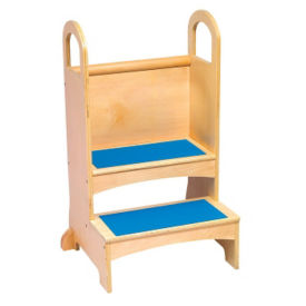 "Step Stool for Children in Natural Finish - 21""W x 32""H, V21591"