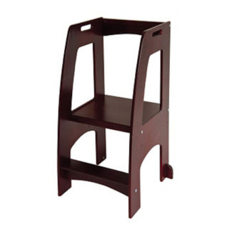 "Stepping Platform for Children in Espresso Finish - 20.5""W x 36""H, V21594"