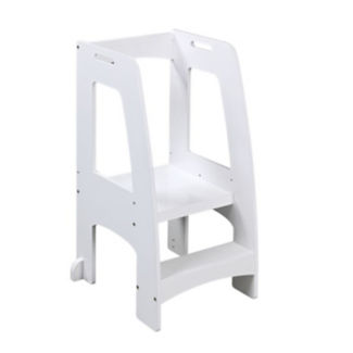 "Stepping Platform for Children in White Finish - 20.5""W x 36""H, V21595"