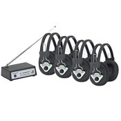 Multi Frequency Wireless Listening Center 4 Person, M10373