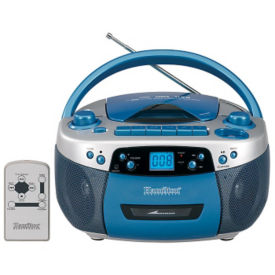 CD and Cassette Audio Player with AM/FM Radio, M16367