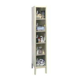 "5 Tier See-Through Locker - 18""D, B34126"