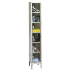 "6 Tier See-Through Locker - 18""D, B34129"
