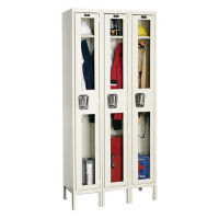 "1 Tier 3 Wide See-Through Locker - 15""D, B34131"