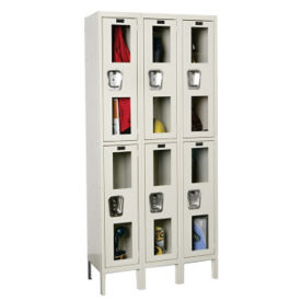 "2 Tier 3 Wide See-Through Locker - 12""D, B34133"