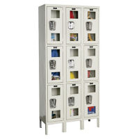"3 Tier 3 Wide See-Through Locker - 18""D, B34138"
