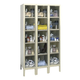 "5 Tier 3 Wide See-Through Locker - 18""D, B34141"