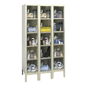 "5 Tier 3 Wide See-Through Locker - 12""D, B34139"