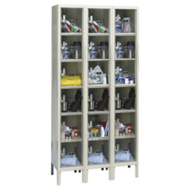 "6 Tier 3 Wide See-Through Locker - 18""D, B34144"