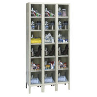 "6 Tier 3 Wide See-Through Locker - 12""D, B34142"