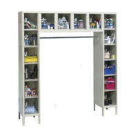 See-Through 16-Person Locker, B34146