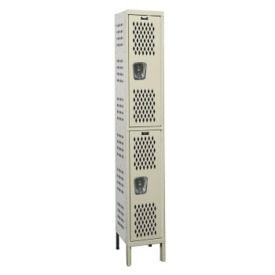 """2-Tier Ventilated Locker 12"""" W x 12"""" D, B34182"""