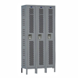 "1-Tier 3-Wide Ventilated Locker 36"" W x 15"" D, B34194"