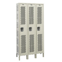 "1-Tier 3-Wide Ventilated Locker 54"" W x 18"" D, B34199"