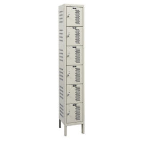 "Assembled 6-Tier Ventilated Locker 12"" W x 18"" D, B34230"