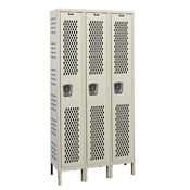 "Assembled 1-Tier 3-Wide Ventilated Locker 45"" W x 15"" D, B34234"