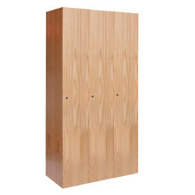 Single Tier Wood Locker 3 Wide, D23054