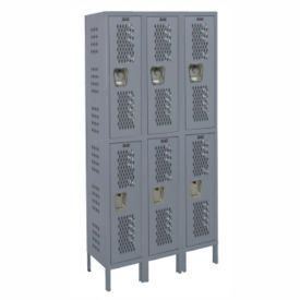 "2-Tier 3-Wide Ventilated Locker 36"" W x 15"" D, B34202"