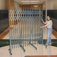 "Portable Folding Security Gate with 3'6"" - 6' Span, H10038"