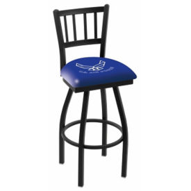 "Ladder-Backed Stool with Vinyl Military Logo -  25""H, C80472"