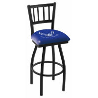 "Vertical-Backed Stool with Vinyl Military Logo -  25""H, C80474"