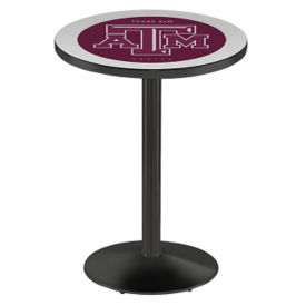 "College Logo  Disc Base Table - 28""DIA x 36""H, T11665"