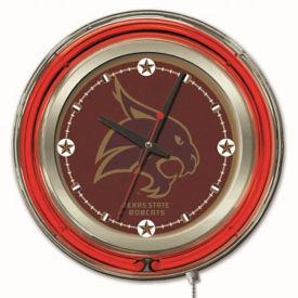 "College Logo Neon Clock 15"" Dia. , V21963"