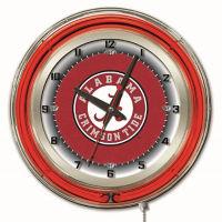 "College Logo Neon Clock -19"" Dia, , V21964"
