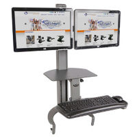 Dual Monitor Adjustable Height Desktop Mount, D35329