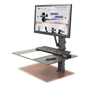 Manual Adjustable Height Monitor Mount, D35332