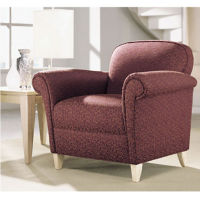 Fabric Scroll Arm Chair, W60010