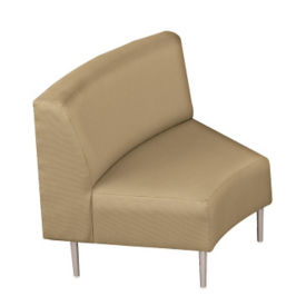 Inside Curve Chair with Fabric Upholstery, W60649