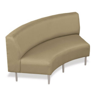 Inside Curve Loveseat with Fabric Upholstery, W60651