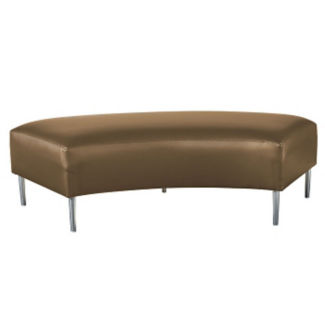 Two Seat Bench with Fabric Upholstery, W60653
