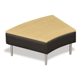 Wedge Shaped Table with Fabric Upholstery, W60654